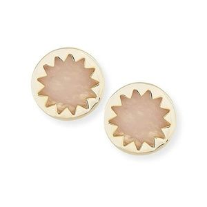 House of Harlow 1960 Pink Mineral Stone Earrings